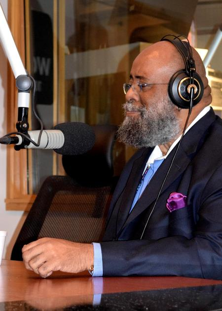 Carl Taylor in studio in 2016Hillary Crawford/WDET