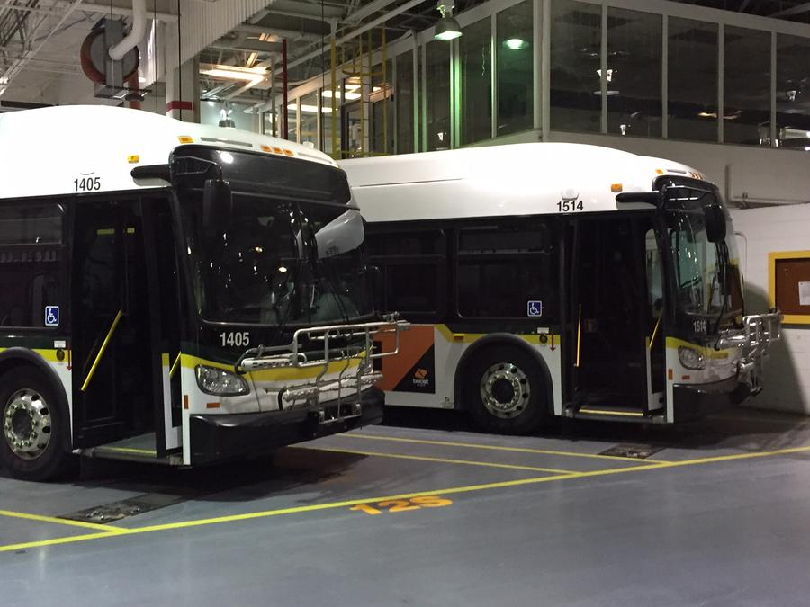 The U.S. Government gave Detroit money to buy new buses.Pat Batcheller