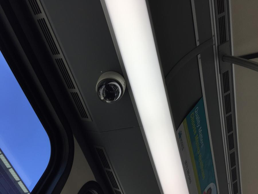 New DDOT buses feature security cameras.Pat Batcheller