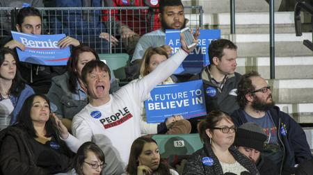 Supporters for Bernie Sanders turned out by the thousands Monday in Ypsilanti.Matt Morley
