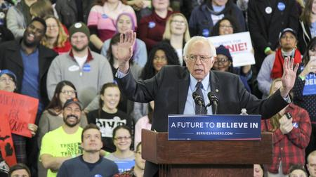Bernie Sanders on the campaign trail in Michigan.Matt Morley