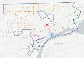 Detroit By The Numbers Detroits Bars And Restaurants MAP WDET - Map of bars in us