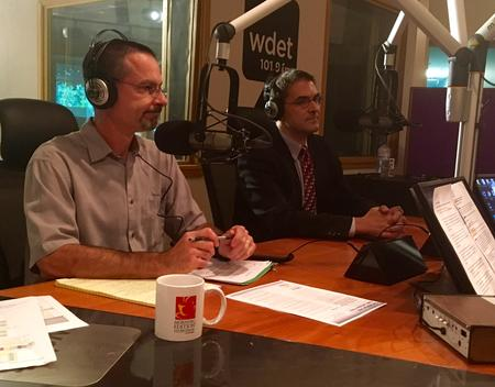 Tom Ivacko of CLOSUP (left) and Kevin Deegan-Krause (right)Laura Weber Davis/WDET
