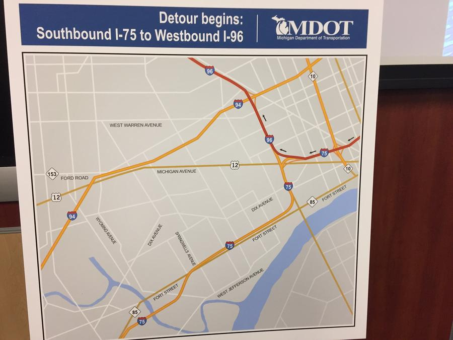 Countdown Is On For I 75 Closure In Southwest Detroit Wdet