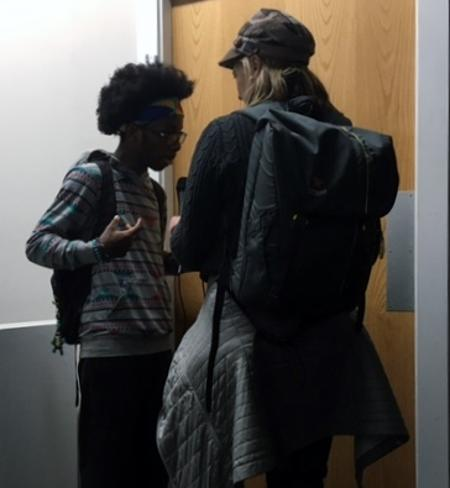 YaKuZa speaks with WDET after the Detroit Youth Poetry Slam competition.Martha Dawson
