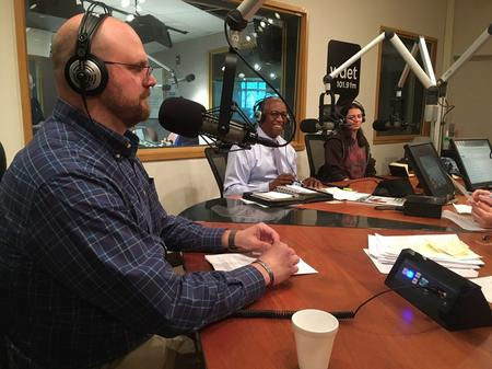 Nick Schroeck (left), Guy Williams (middle), and Rachel Klegon (right)Jake Neher/WDET