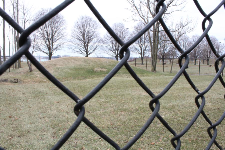 The Indian burial mound at Fort Wayne in Southwest Detroit.WDET/Laura Herberg
