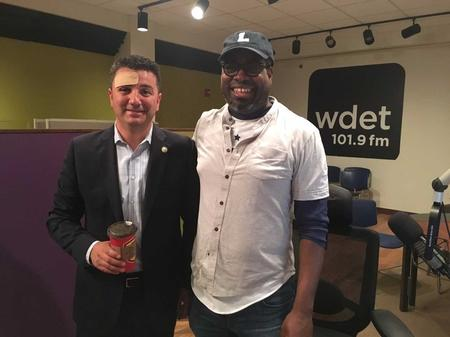 Martin Manna, president of the Chaldean Chamber of Commerce (left), with Stephen Henderson (right)Jake Neher/WDET