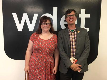 Amy Haimerl (left) with Nicholas Rombes (right)Jake Neher/WDET