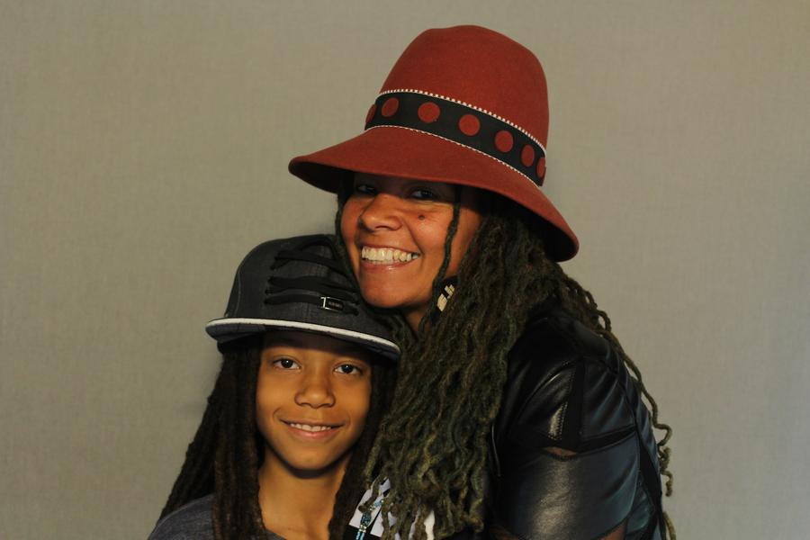 jessica Care moore and her son, King.StoryCorps