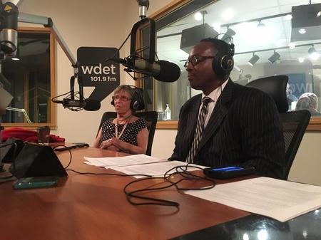 Leni Sinclair (left) and Charles Ferrell (right)Jake Neher/WDET