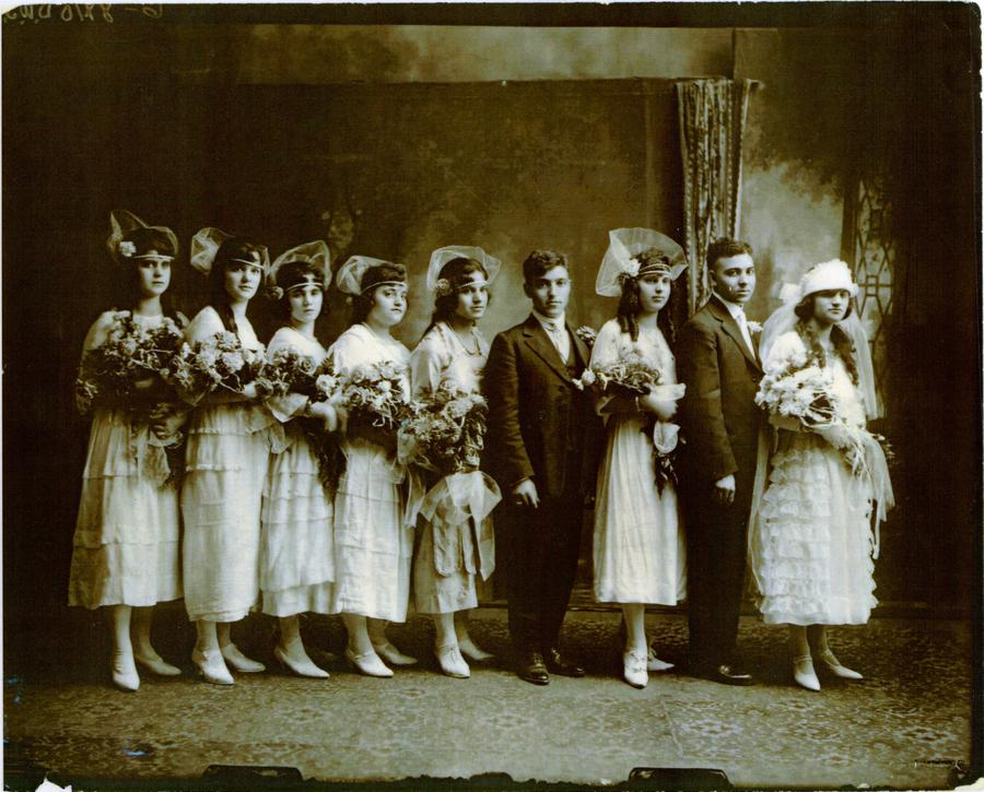 1920s Syrian wedding in the United States.From the Collection of the Arab American National Museum