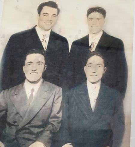 Najah Bazzy's father and his brothers in the United States.Najah Bazzy