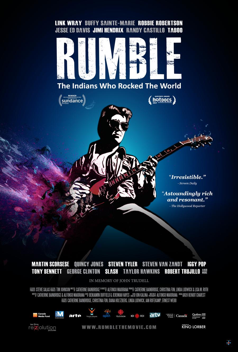 "Poster for ""Rumble: The Indians Who Rocked The World"""