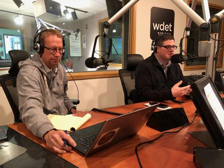 Mike Wilkinson (left) and Chad Livengood (right)Jake Neher/WDET