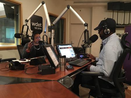 Farai Chideya (left) with Stephen Henderson (right)Laura Weber Davis/WDET