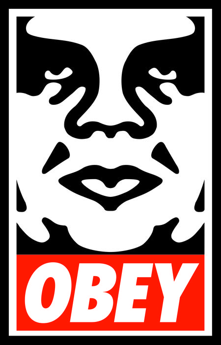 "Fairey's iconic ""Obey Giant"" artwork (courtesy of artist)"