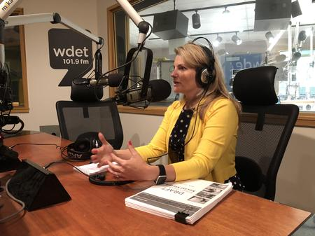 Casandra Ulbrich (D-Rochester Hills), co-president of the State Board of EducationJake Neher/WDET
