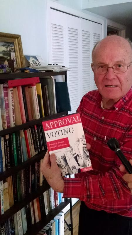 "Natural Law candidate John Howard Wilhelm favors ""approval"" voting, where voters select yes or no for each candidate on a ballot, rather than just choosing one candidate, with the results ranked in order of preference. Benjamin Apostle/WDET"