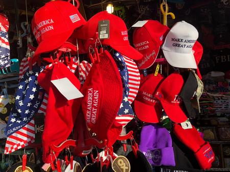 MAGA merchandise being sold outside the White House in Washington, DC.Jake Neher/WDET
