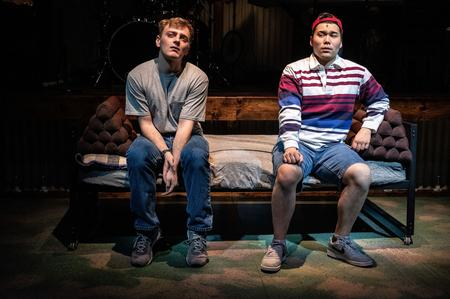 "Actors Peter Scattini and Sam Hamashima perform in ""Girlfriend,"" a new musical at the Detroit Public Theatre based on the music of Matthew Sweet.Chuk Nowak Photography / Detroit Public Theatre"