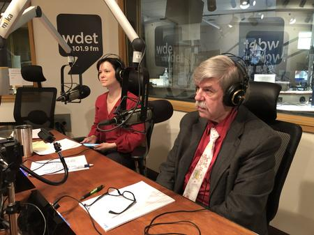 Michele Oberholtzer (left) with Ted Phillips (right) of United Community Housing Coalition.Jake Neher/WDET
