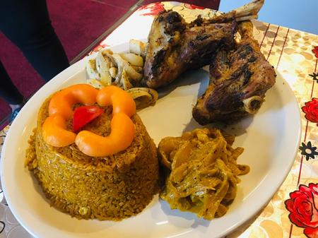 Lamb and jollof rice a specialty at Maty's African Cuisine, an eatery that focuses on food from the West African nation of Senegal.Serena Daniels