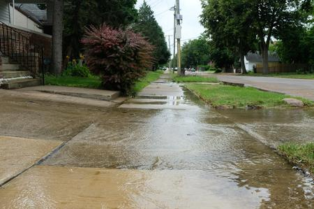Recent water levels in Jefferson-Chalmers. Residents say drainage is an issue.Eli Newman