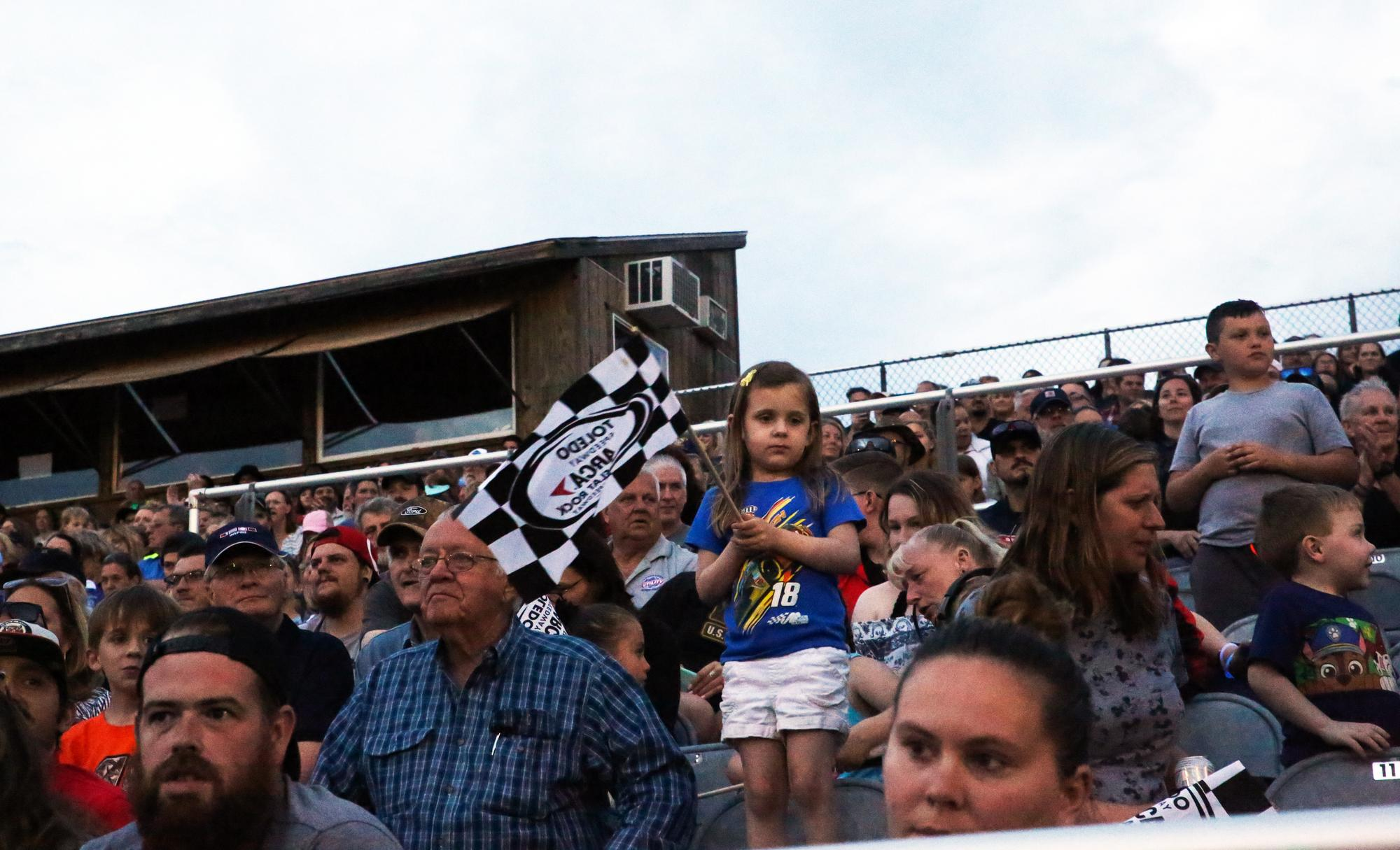 The crowd at Flat Rock Speedway.Shiraz Ahmed