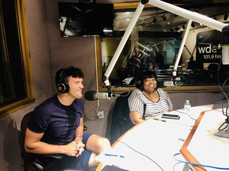 Matthew Piper (left) and Saundra Little (right) during their interview on CultureShift on 101.9 WDET.LaToya Cross