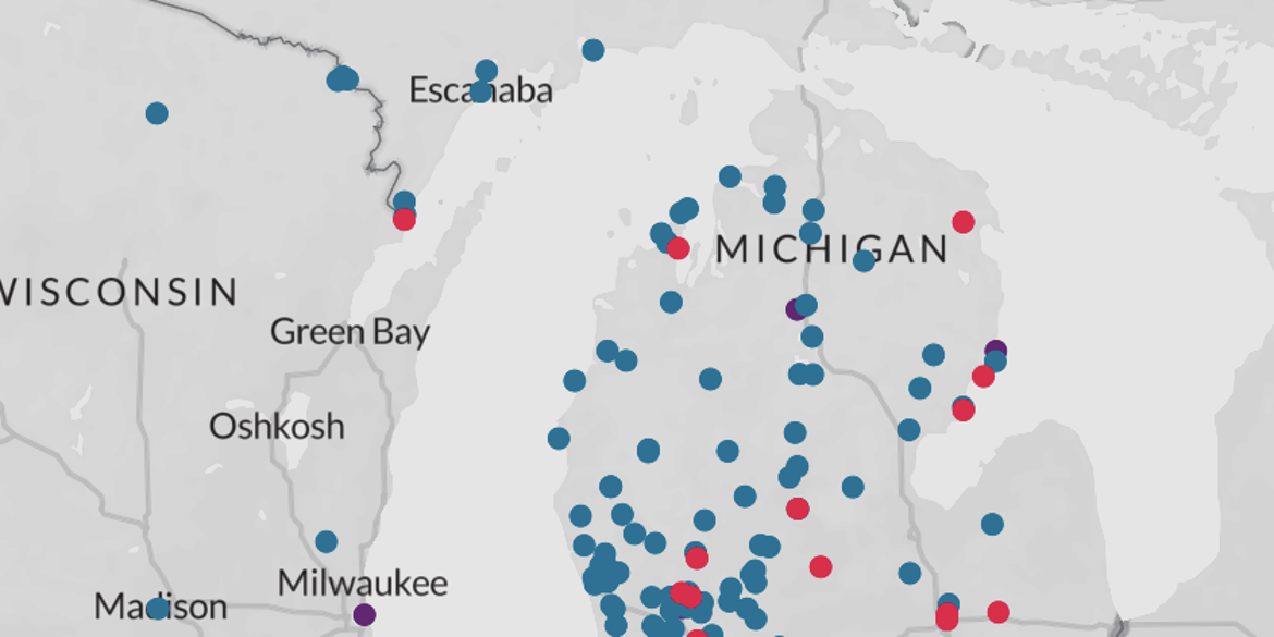 Where's the PFAS? Michigan Leads in Detection of Contaminant [MAP