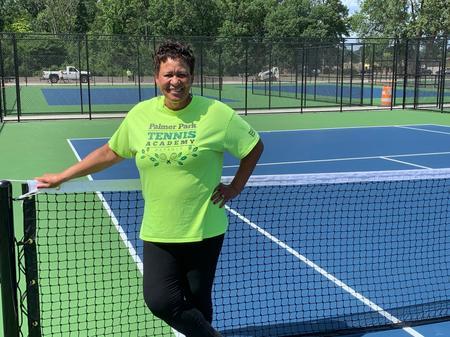 Play Until Dark on Palmer Park's New Tennis Courts