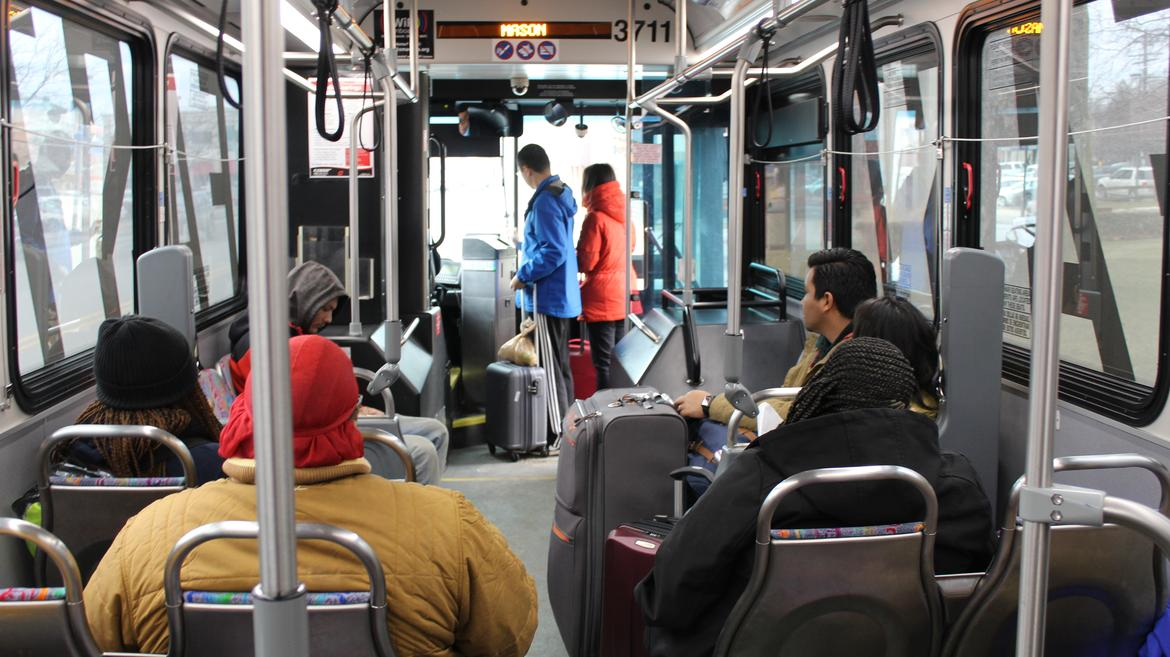 Detroit Bus to Airport More Than One Year Old   WDET