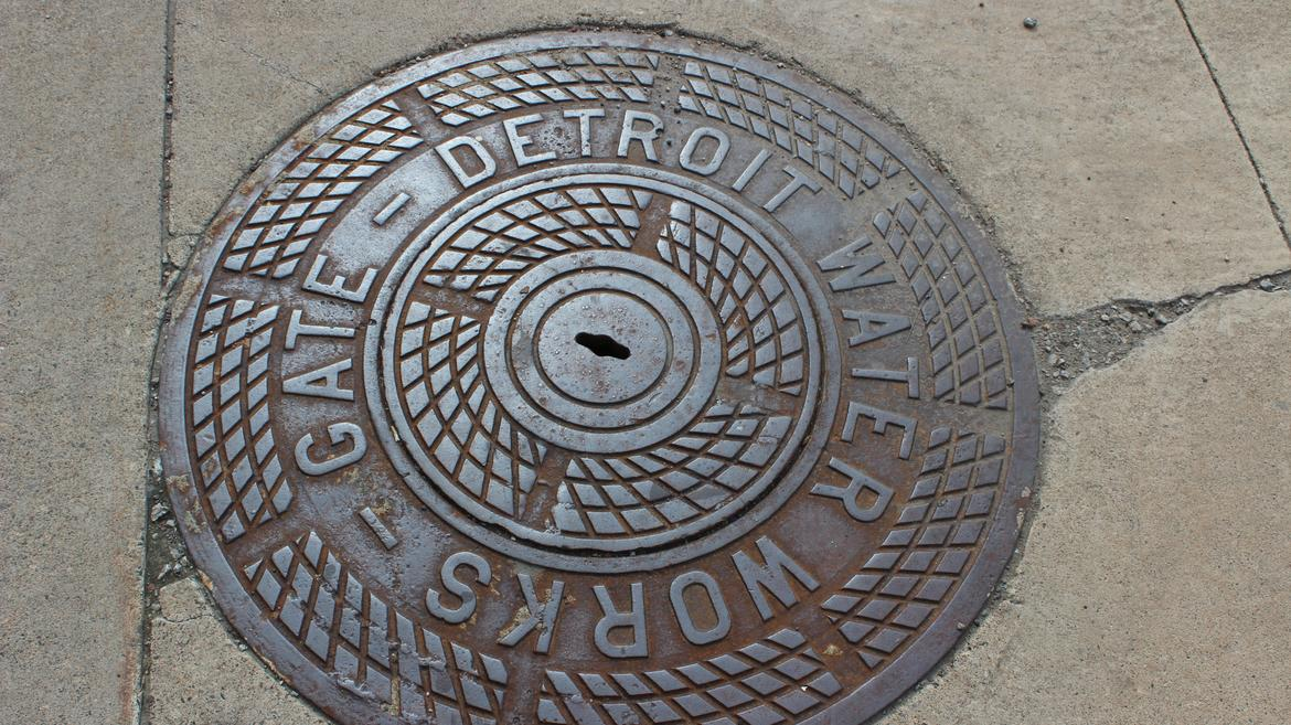 Detroit manhole cover, credit: Bre'Anna Tinsley/ WDET