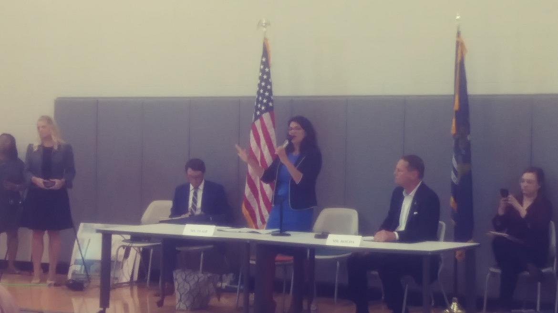 Rep. Rashida Tlaib speaking at hearing, credit: Eleanore Catolico