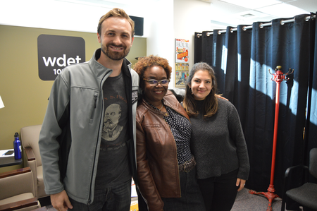 From left-to-right: Jarret Schlaff of Pingree Detroit, Karen Tyler-Ruiz of the Center for Community-Based Enterprise, and Margo Dalal of Detroit Community Wealth FundJake Neher/WDET