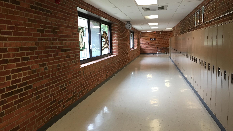School hallway, credit: Jake Neher/WDET