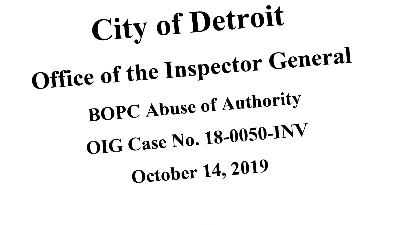 Image of case number, credit: City of Detroit