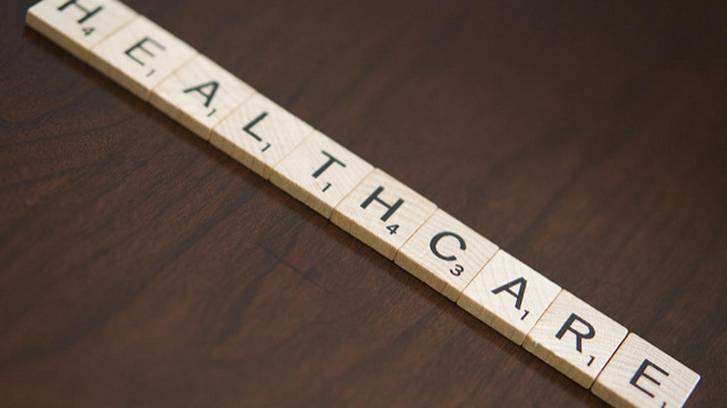 Image of letters spelling health care, credit: flickr
