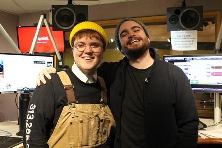 Jax Anderson (left) with CultureShift's Ryan Patrick Hooper at the WDET studios in Detroit.Meta Stange