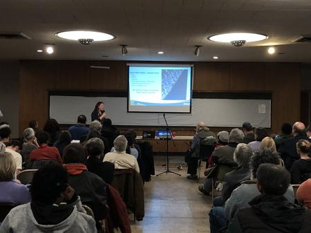 Tracy Kecskemeti of EGLE gives presentation at Cass Commons.Eli Newman / WDET