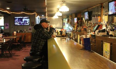 Inside the Max Dugan bar in Hazel Park, locals express concern over drinking water quality.Laura Herberg / WDET