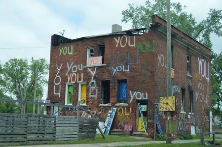 A structure in the Heidelberg Project in Detroit's McDougall-Hunt neighborhoodJake Neher/WDET