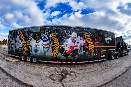 "The mobile museum touring the country -- including a stop in Detroit this weekend -- as part of the NHL's ""Black Hockey History Tour.""National Hockey League"