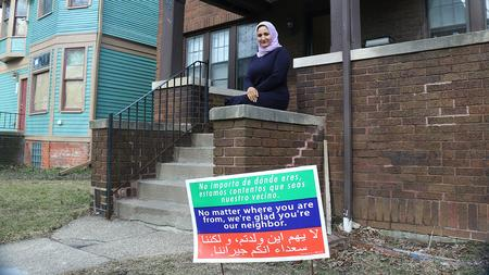 Hanan Yahya at the District 6 office in Southwest Detroit.David Leins / WDET