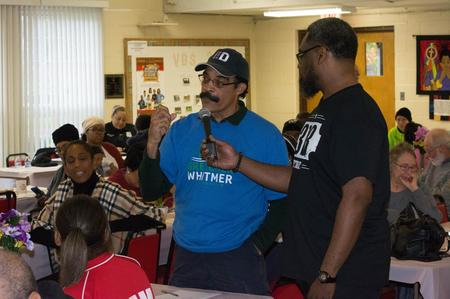 Tom Wilson at a community meeting in Detroit.Photo Courtesy of District One Detroit