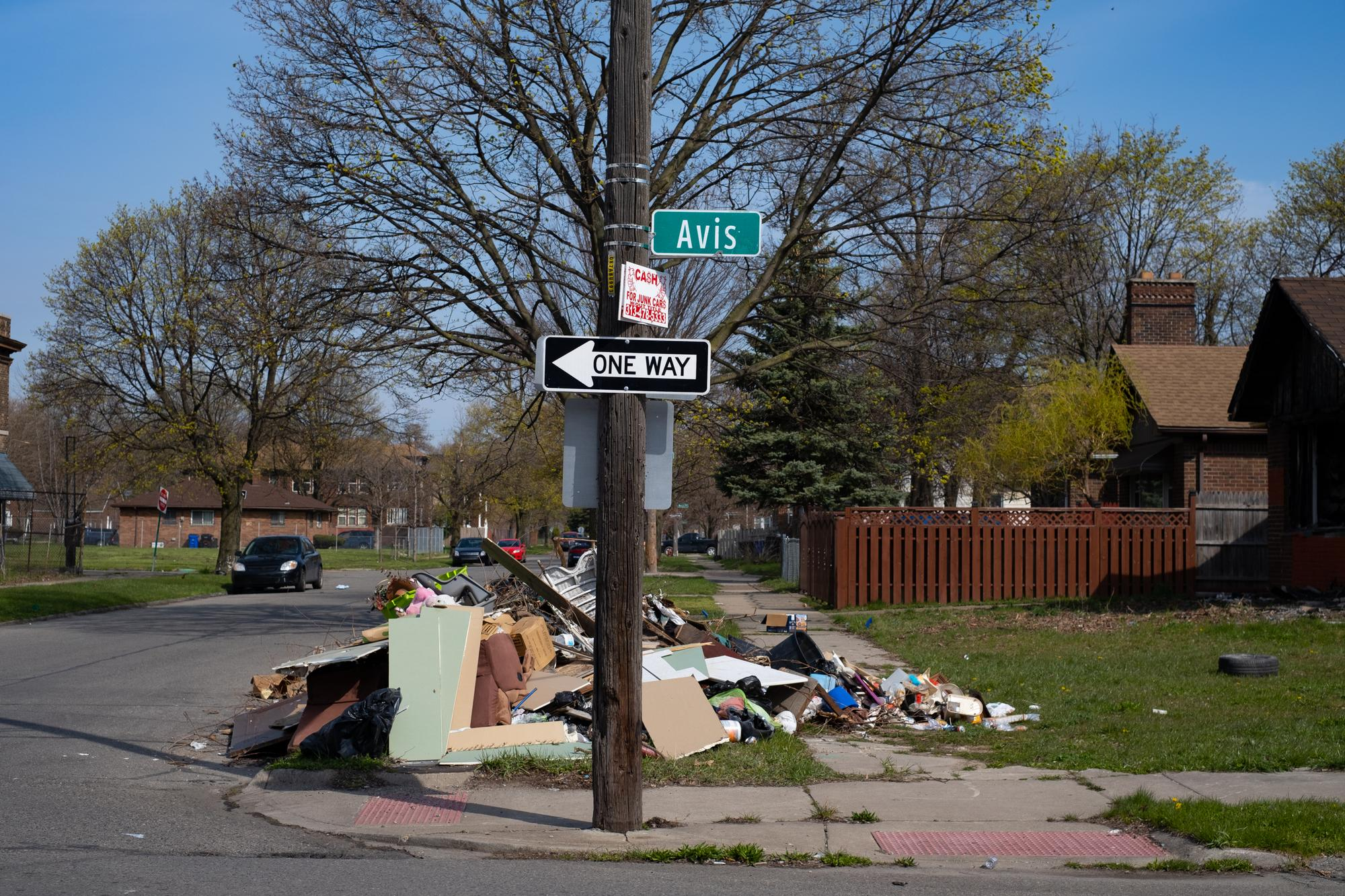 Dumping on a corner in Southwest Detroit has been reported repeatedly by neighbors. They were reportedly told that the city would be sending a crew and it would finally be removed on a day that passed last week.Taken by Erik Paul Howard for WDET