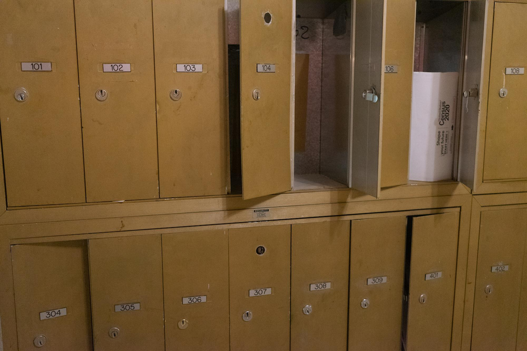 Open Mail Boxes, to Empty ApartmentsTaken by Darryl DeAngelo Terrell for WDET