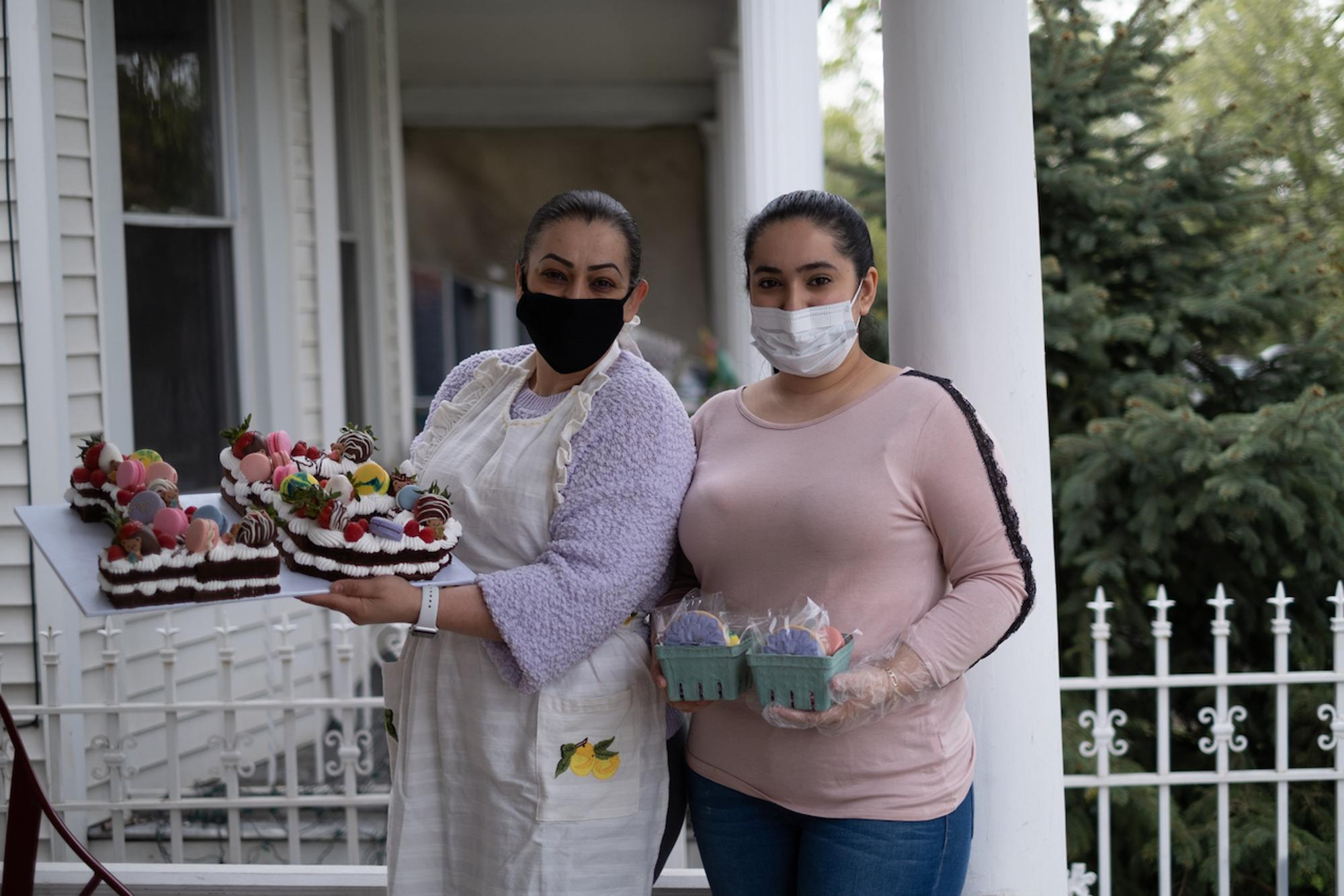 Faviola Lopez and her daughter, Gabriela, prepare and sell gift baskets for Mother's Day from home in Southwest Detroit.Taken by Erik Paul Howard for WDET