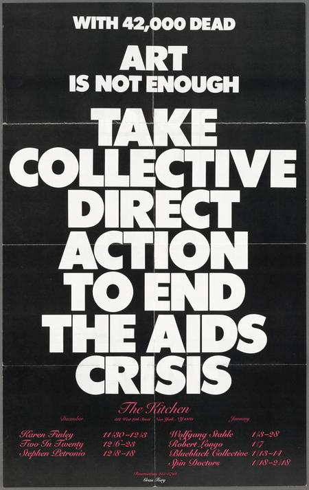 1980's Gran Fury poster art.New York Public Library